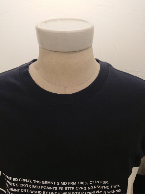C.P.COMPANY LSGraphicCrewT-shirt NAVY 20SS