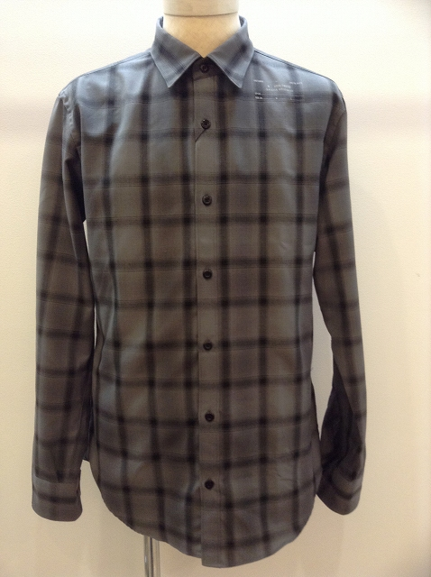 n.hoolywood STAMP SHIRTS BK CHECK 17AW