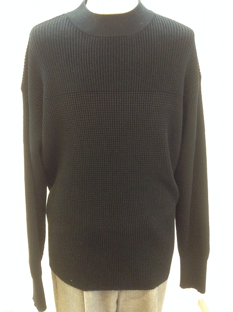 n.hoolywood EX-C  MOCK NECK KNIT BLACK 17AW