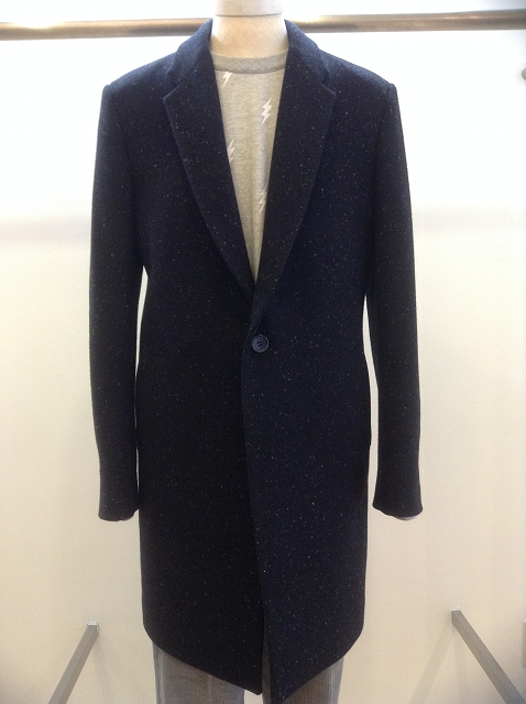 n.hoolywood CHESTER COAT BK×WH 17AW
