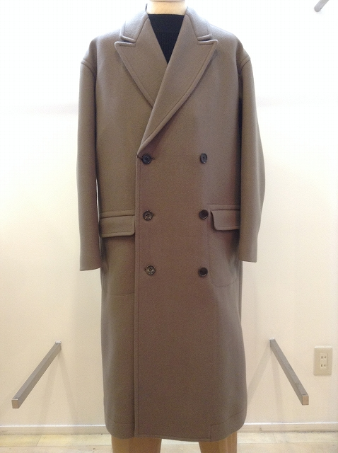 n.hoolywood DOUBLE COAT BROWN 17AW