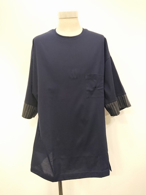 Front Slit T-shirt 19SS NAVY
